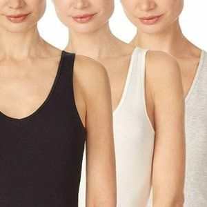 Jane and Bleecker Women's 3-Pk Cotton Stretch Tank